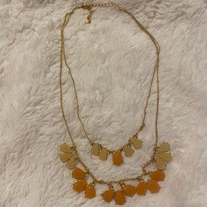 LC Lauren Conrad Peach and Gold Statement Necklace